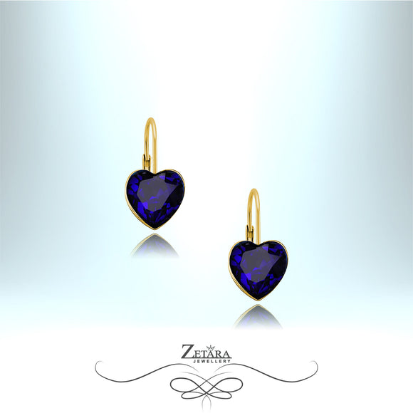 The Real Heart of The Ocean - Titanic Earrings