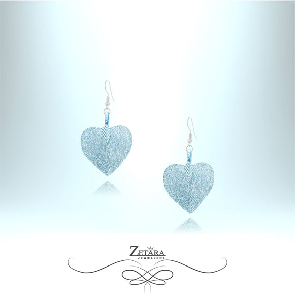 Flora Collection Cordate Leaf Earrings (S) - Baby Blue
