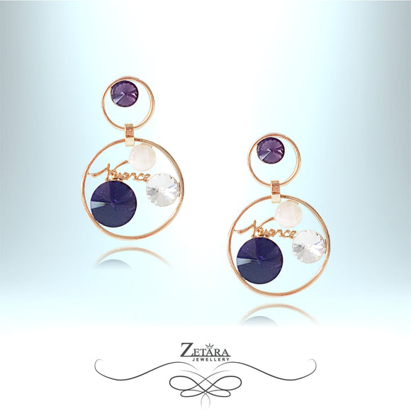 Nuance Crystal Earrings - Amethyst