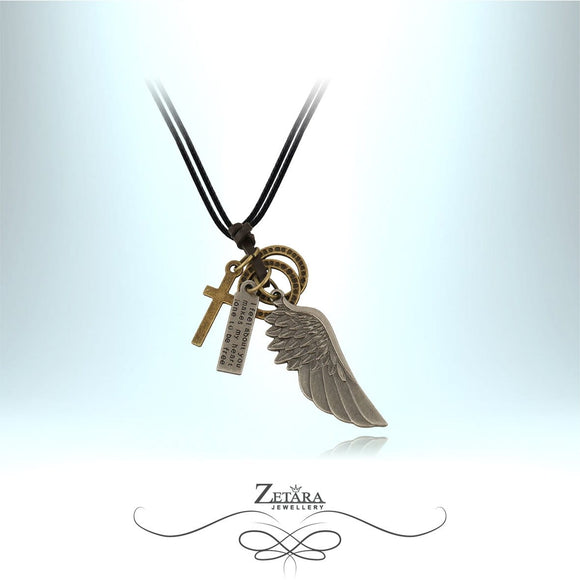 Zetara MAN - Angel Wing Charm Neck Chain
