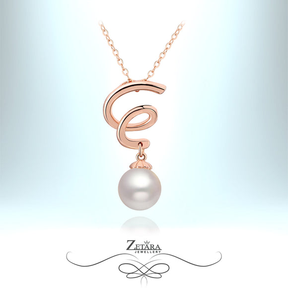 Freshwater Pearl Spiral Necklace