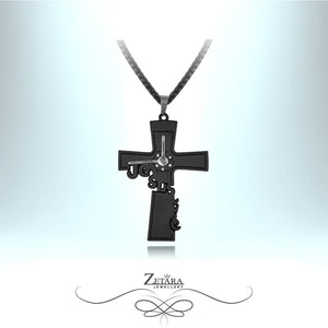 Zetara MAN - Jesus Time Cross Neck Chain