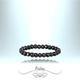 Zetara MAN - Tibetan Prayer Round Bead Bracelet - Black