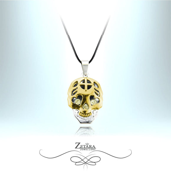 Zetara MAN - Loving Eyes Skull Neck Chain - Gold