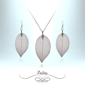 Midnight Silver Leaf Set