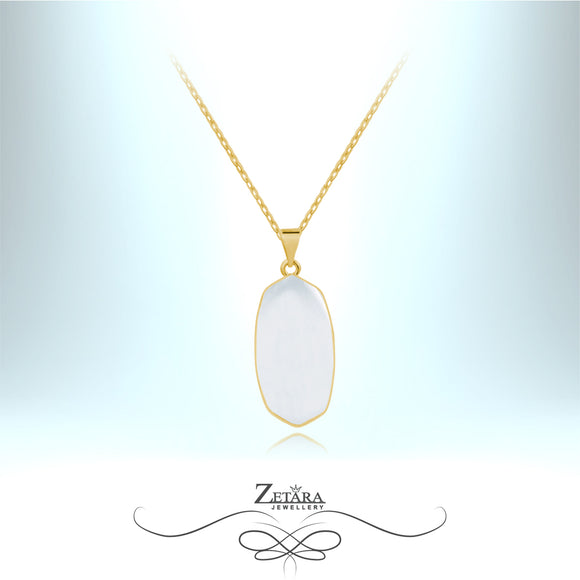 Natural Moonstone Necklace (Gold) - Birthstone for June