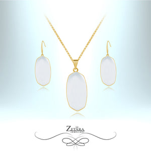 Natural Moonstone Set (Gold) - Birthstone for June
