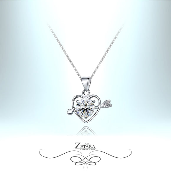 Rosalina Crystal Heart Necklace - Diamond