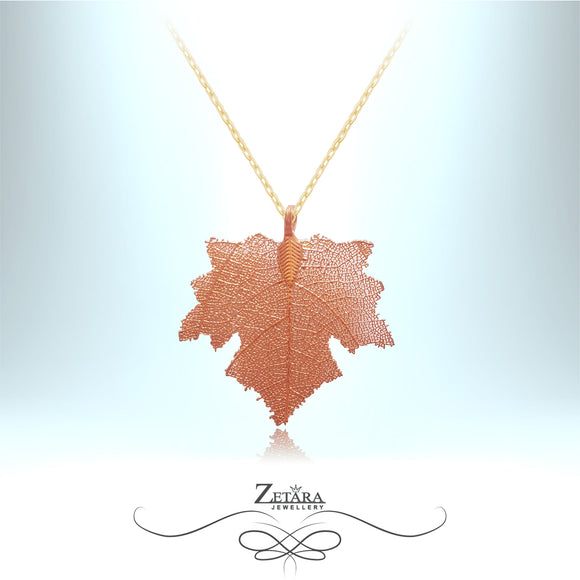 Flora Collection Maple Leaf Necklace