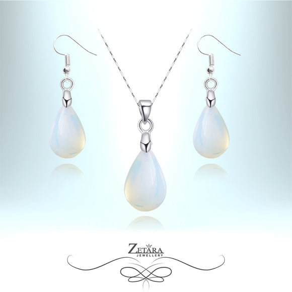 Moonstone Drop Set - Birthstone for June