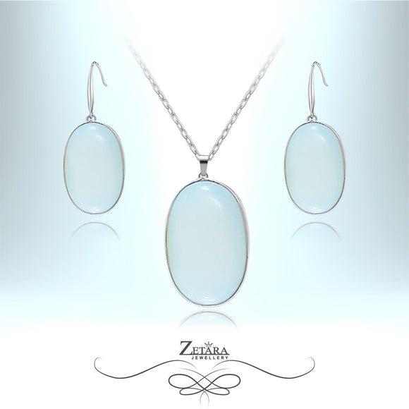 Natural Moonstone Drop Set - Birthstone for June