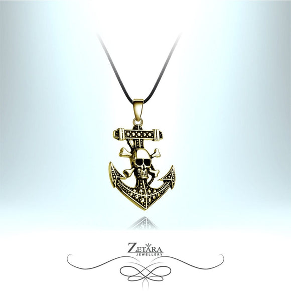 Zetara MAN - Jolly Roger Neck Chain - Brass