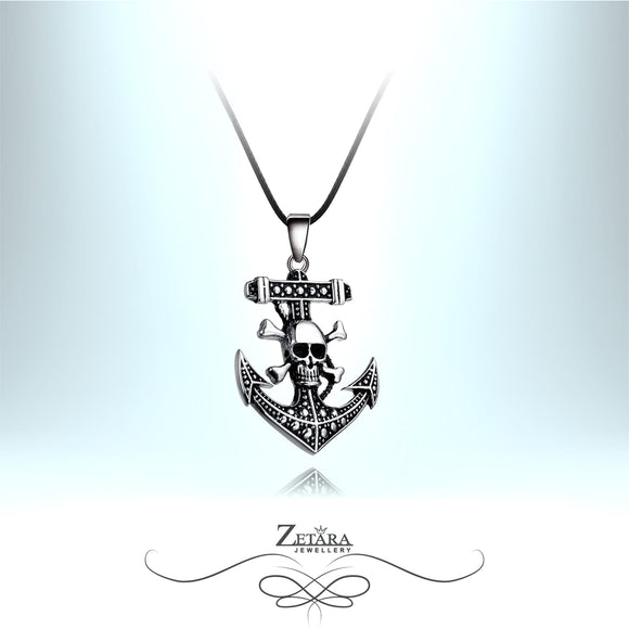 Zetara MAN - Jolly Roger Neck Chain - Silver