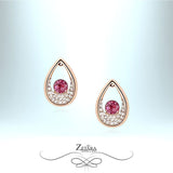 Tourmaline Crystal Earrings - Gold