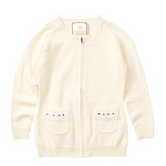 Load image into Gallery viewer, Little Charberry - Unique Elongated Body Zip Cardigan