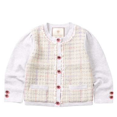 Little Charberry - Luxurious Elegant Plaid Cardigan