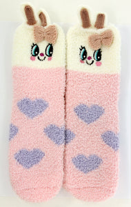 Pink Bunny Socks in a Box