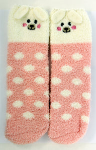 White and Pink Puppy Dog Socks in a Box