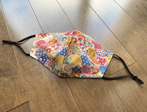 Japanese Fabric - Japanese Celebration Balloons Face Mask