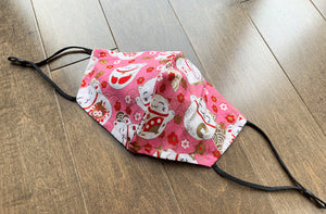 Japanese Fabric -  Lucky Cat Face mask