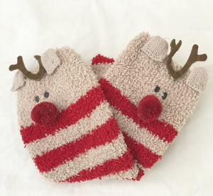 Reindeer Christmas Socks in a Box