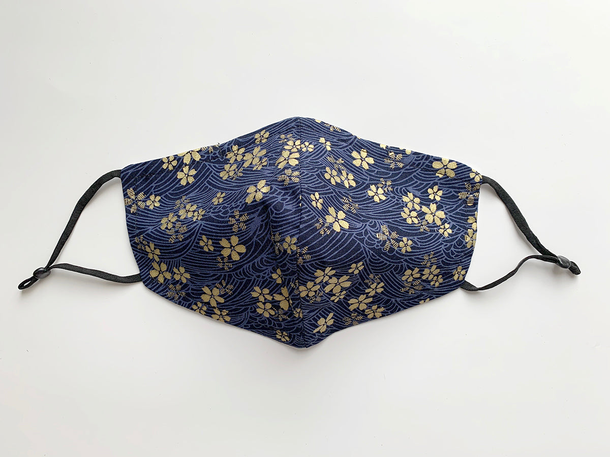 Japanese Fabric - Elegant Sakura Face mask