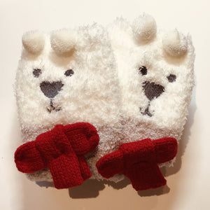 White Bear Socks in a Box for Young Children
