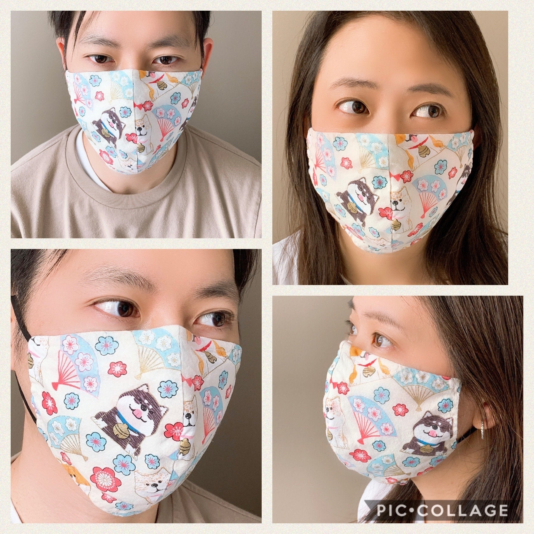 Designer Mask - Solid Color - Grey (L)