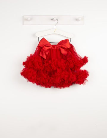 Layered ruffle tutu skirt