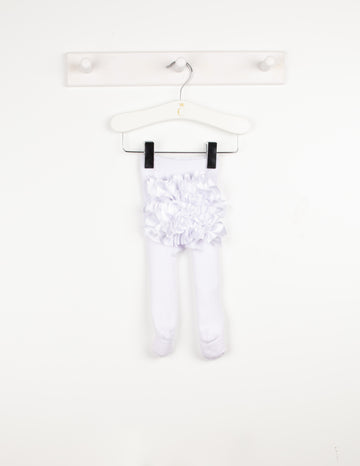 Ruffle bum ribbon tights