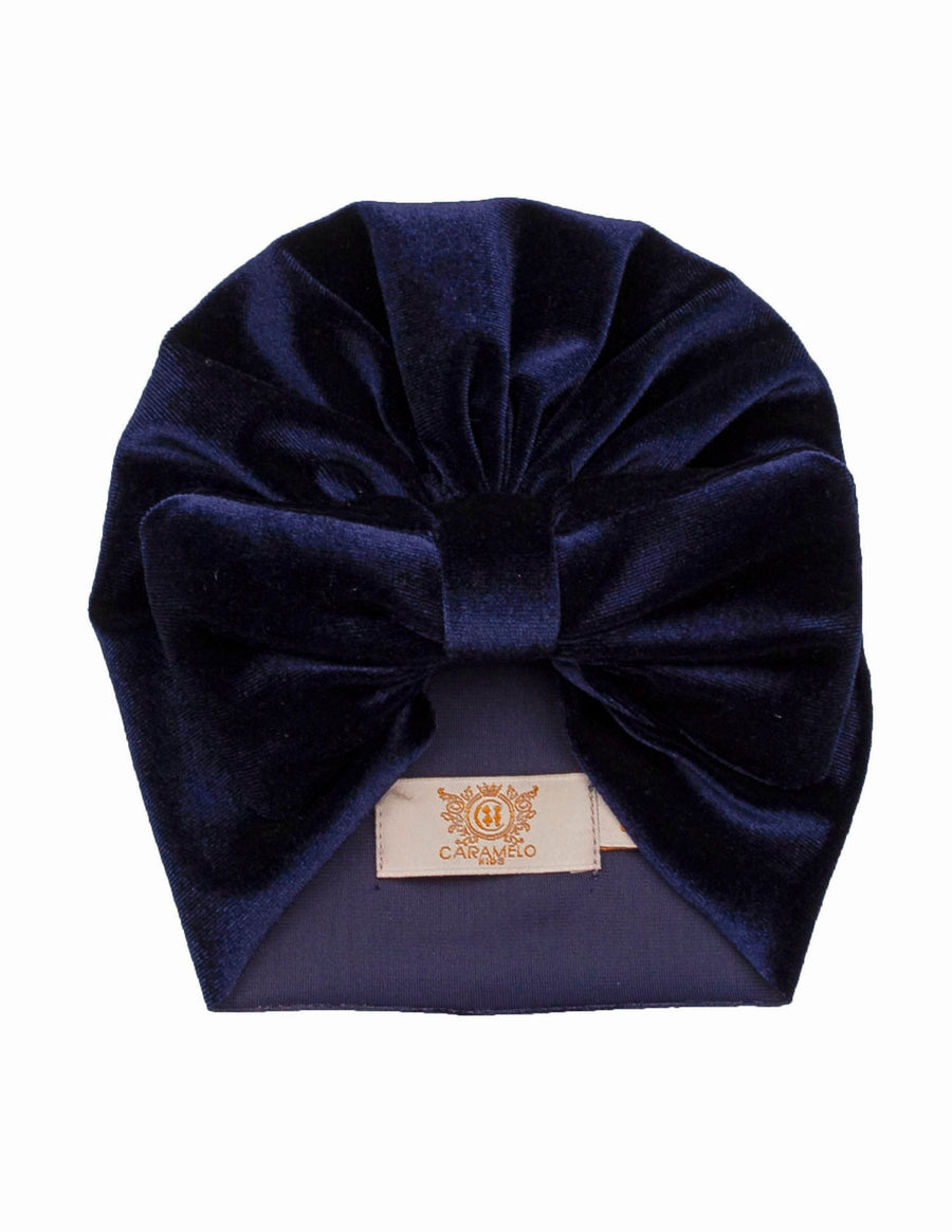 Velour bow turban