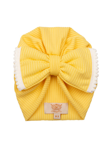 Ribbed Bow Turban