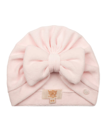 Velour padded bow turban