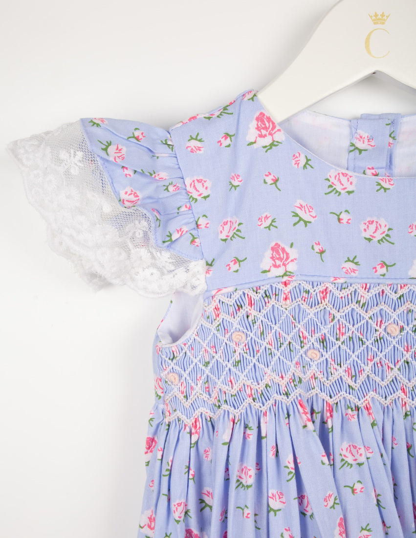 Hand-Smocked Floral Nightie Set