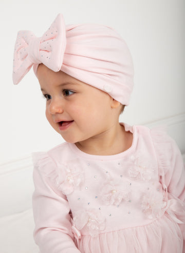 Diamonte bow turban
