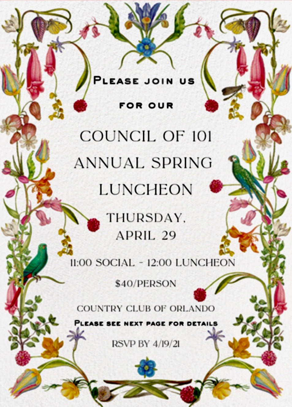Annual Spring Luncheon - 2021