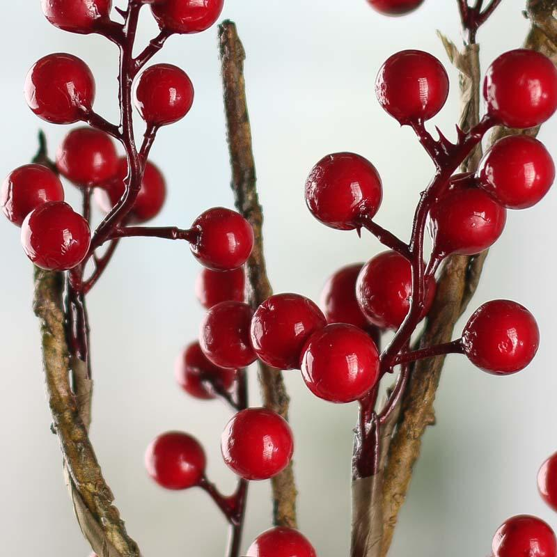"Dried Red Myrtle Berry Bunches 20""-24"""