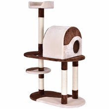 "Load image into Gallery viewer, Golpus 48"" Cat Tree Kitten Activity Tower Pets Furniture Condo with Perches Wood Cat Jumping Climbing Kitty Tower Posts PS7014"
