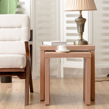 Load image into Gallery viewer, Giantex Set of 2 Nesting Coffee End Table Side Table Wood Color  Living Room Furniture HW58203