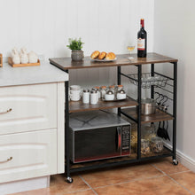 Load image into Gallery viewer, Rolling Industrial Kitchen Baker's Rack Kitchen Island Utility Storage Shelf