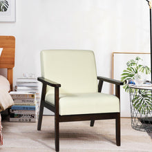 Load image into Gallery viewer, Fabric Accent Chair Armchair Solid Rubber Wood Upholstered Lounge Chair