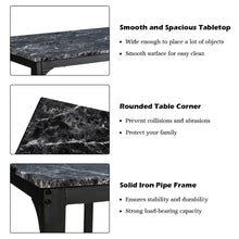 Load image into Gallery viewer, 3 PCS Counter Height Dining Set Faux Marble Table 2 Chairs Kitchen Bar Furniture