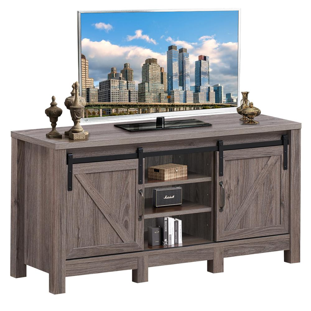 TV Stand Sliding Barn Door Entertainment Center for TV's up to 55