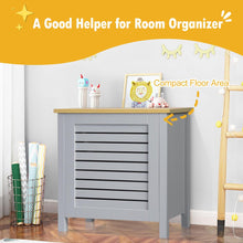 Load image into Gallery viewer, Wooden Toy Storage Organizer Kids Toy Chest W/Lid for Kindergarten Bedroom Grey HW65700GR