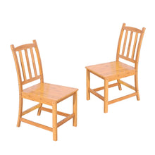 Load image into Gallery viewer, 2pcs 41 x 46 x 87CM  Sturdy Bamboo Dining Chairs Wood Color