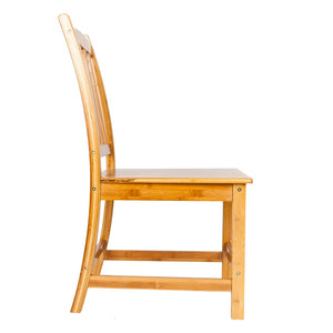 2pcs 41 x 46 x 87CM  Sturdy Bamboo Dining Chairs Wood Color