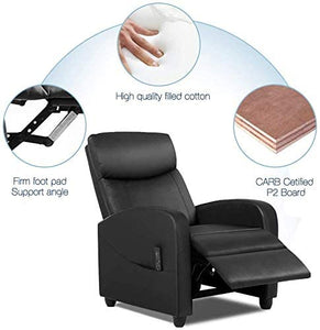 Recliner Chair Massage Single Sofa Armchair for Living Room Modern Ergonomic Adjustable Home Theater Seating Thicker Seat