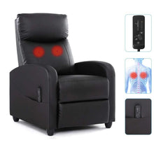 Load image into Gallery viewer, Recliner Chair Massage Single Sofa Armchair for Living Room Modern Ergonomic Adjustable Home Theater Seating Thicker Seat