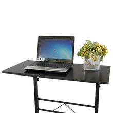 Load image into Gallery viewer, (80 x 40 x 68-86)cm Adjustable Removable Steel Side Table Laptop Desk  Computer Table Computer Desk Black