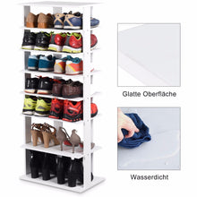 Load image into Gallery viewer, Giantex Wooden Shoes Storage Stand 7 Tiers Big Shoe Rack Organizer Multi-Shoe Rack New   Home Furniture HW57381